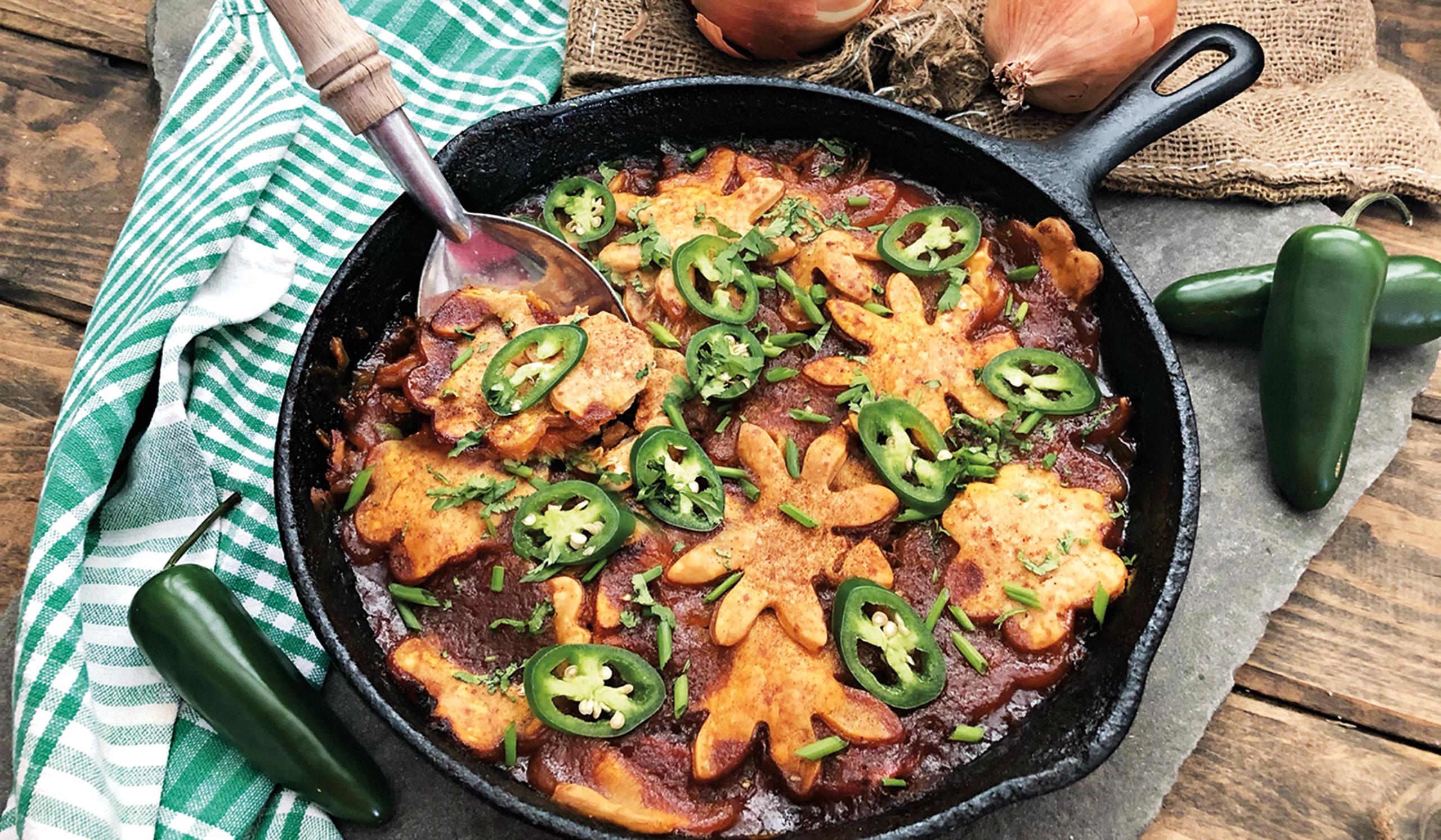 Rotisserie BBQ Chicken Skillet Pot Pie